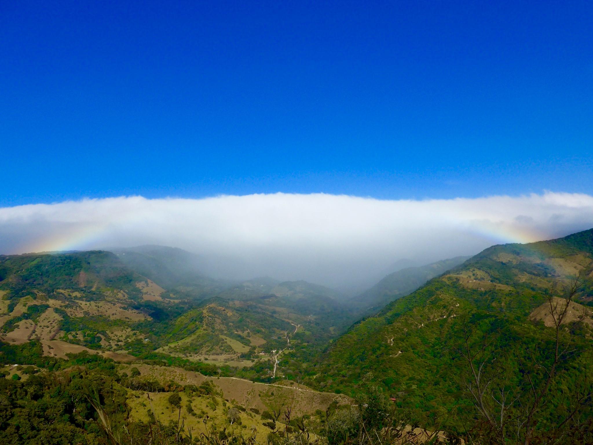 Ein Regenbogen ohne Regen - sieht man auch nicht alle Tage!