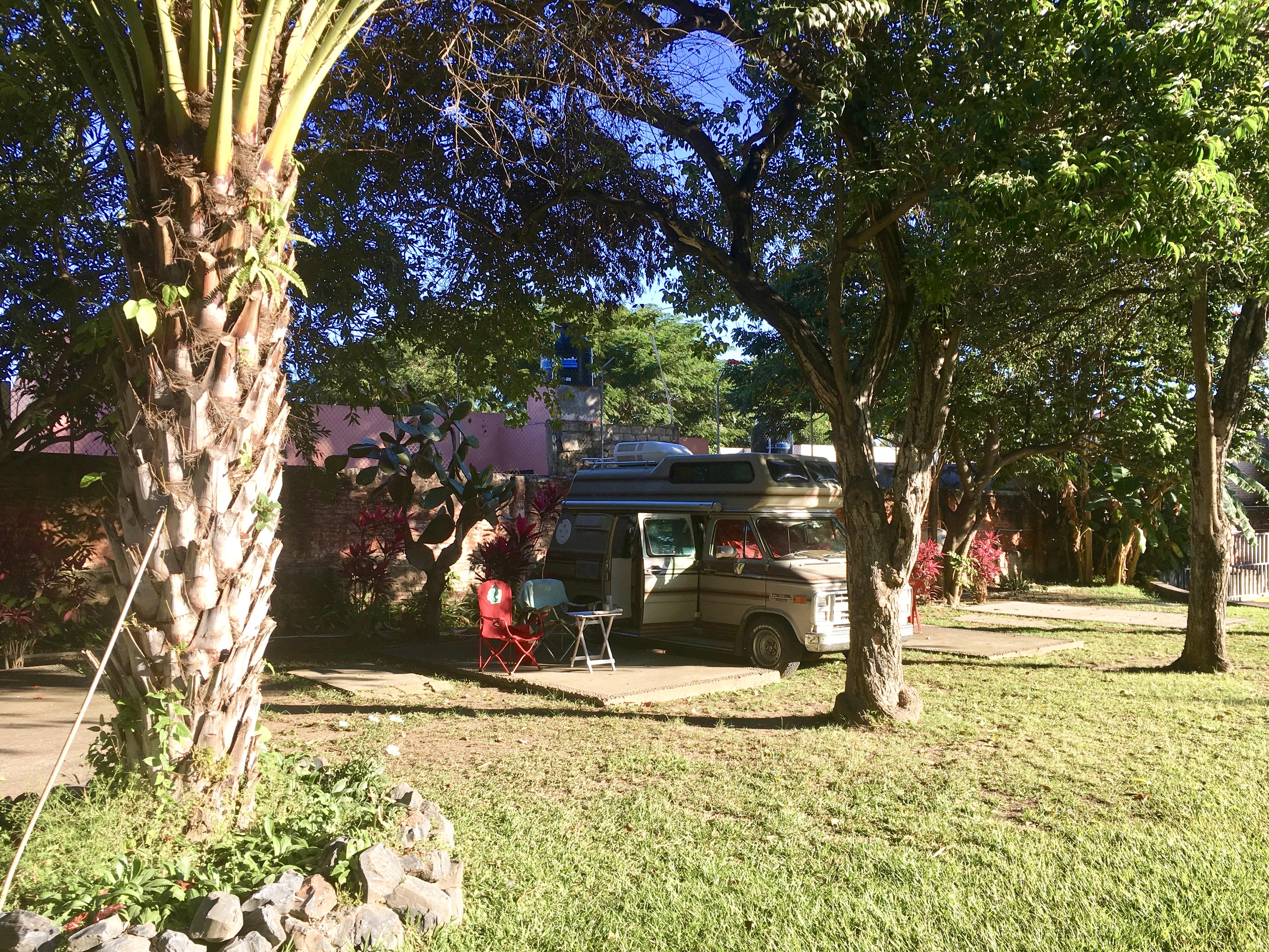 Einer der Campingplätze in Mexiko. Diesen hier hatten wir ganz für uns alleine.